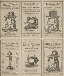 Advert for the Wanzer Sewing Machine Company, reverse side